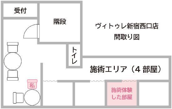 ヴィトゥレ新宿西口店の間取り
