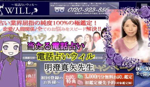 【電話占い体験】電話占いウィル明澄真矢先生に恋愛について本気で相談した件
